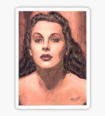 PORTRAIT OF HEDY LAMARR Sticker