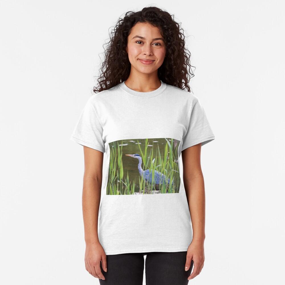 Grey Heron (Ardea cinerea) Classic T-Shirt