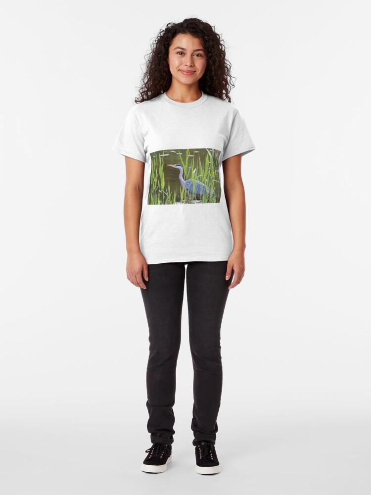 Alternate view of Grey Heron (Ardea cinerea) Classic T-Shirt