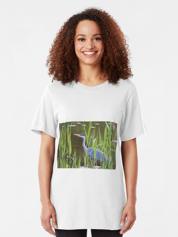 Alternate view of Grey Heron (Ardea cinerea) Slim Fit T-Shirt