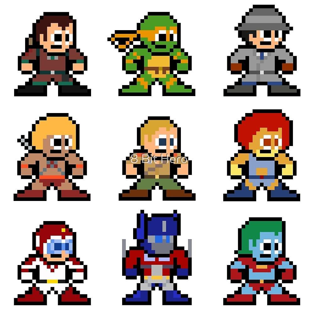 8-bit 80s Cartoon Heroes by 8 Bit Hero