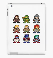 8-bit 80s Cartoon Heroes iPad Case/Skin