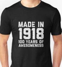 100th Birthday Gift Adult Age 100 Year Old Men Women Unisex T Shirt