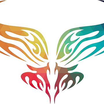 Rainbow tribal design 01 by AdiDsgn