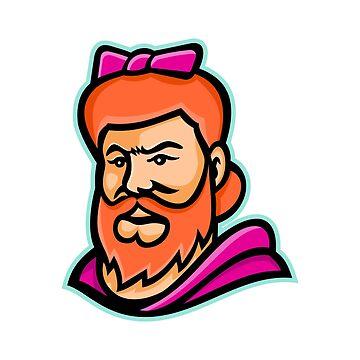 Bearded Lady Mascot by patrimonio