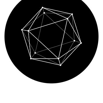 Icosahedron - black by mjdsgn
