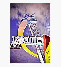 Star Motel Photographic Print