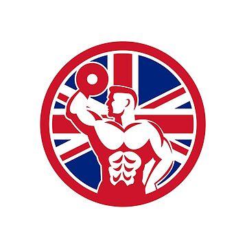 British Fitness Gym Union Jack Flag Icon by patrimonio