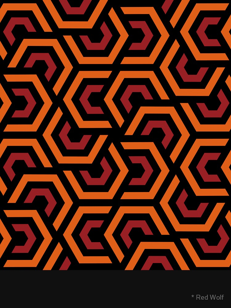 Geometric Pattern: Layered Hexagon: Orange by redwolfoz