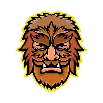 Circus Wolfman or Wolfboy Mascot by patrimonio