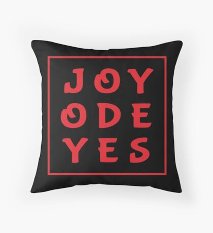 Joy Ode Yes – Red Throw Pillow