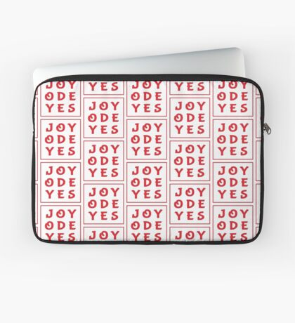 Joy Ode Yes – Red Laptop Sleeve