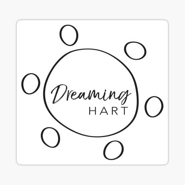 Dreaming Hart logo in black (square) Sticker