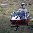 Helicopter at Il Ngwesi by David Clarke