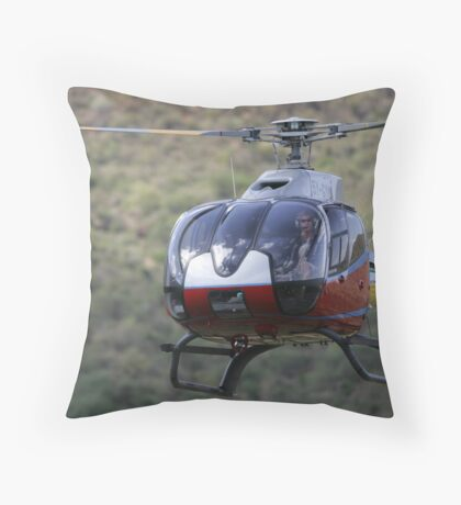 Helicopter at Il Ngwesi Throw Pillow