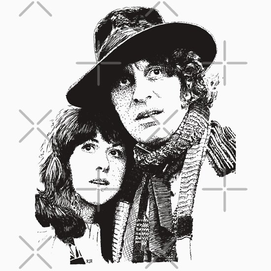 TShirtGifter presents: 4th Doctor and Sarah-Jane