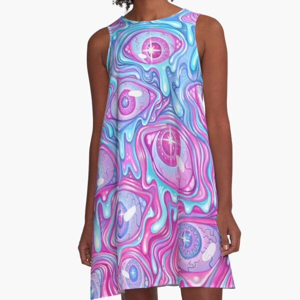 Eyeball Pattern - Version 2 A-Line Dress