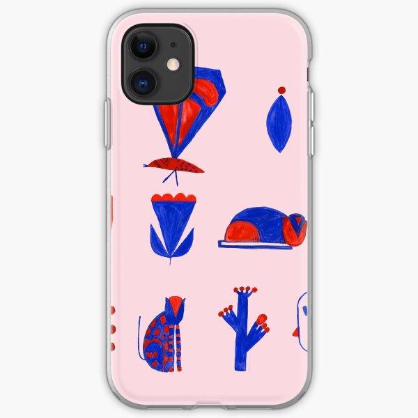 Blue & red love iPhone Soft Case