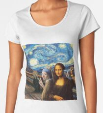 Famous paintings parody  Women's Premium T-Shirt