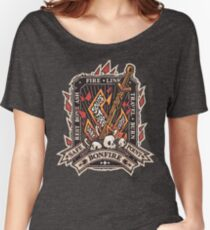 Dark Bonfire Emblem with Curse Souls Color Women's Relaxed Fit T-Shirt