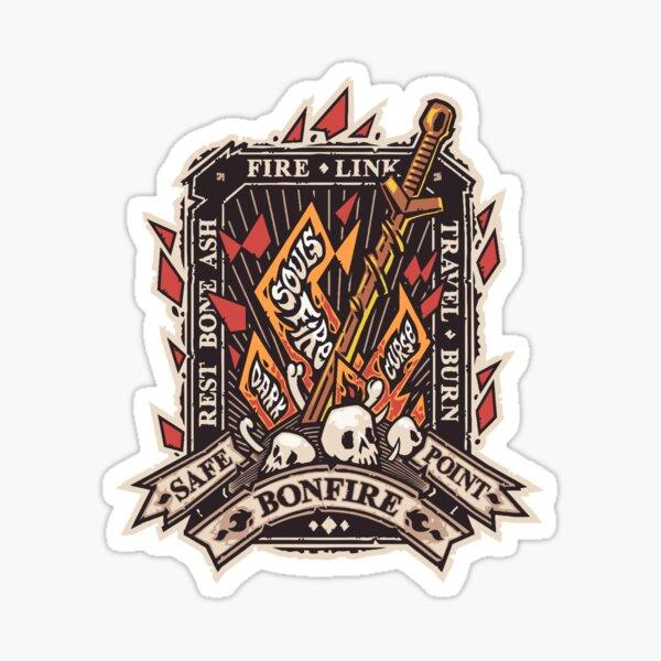 Dark Bonfire Emblem with Curse Souls Color Sticker