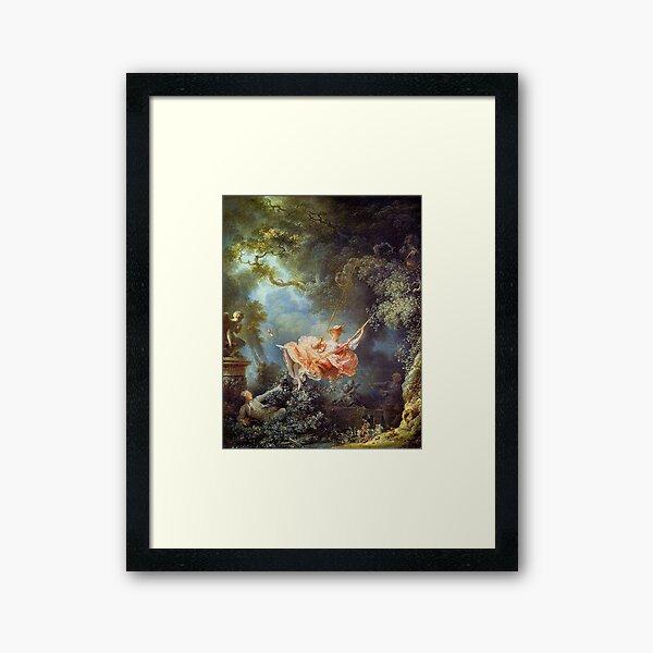 Jean-Honoré Fragonard - The Swing  Framed Art Print