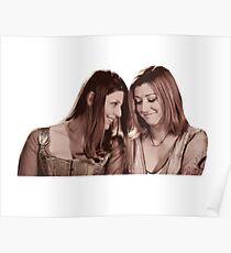 Willow & Tara - Sepia Under Your Spell, Buffy the Vampire Slayer, BtVS, 90s, Joss Whedon, Sunnydale, LGBTQ, Gay Pride, Tara Maclay, Willow Rosenberg Poster