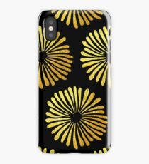 Gold daisies pattern iPhone Case