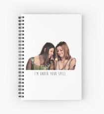 Willow & Tara - I'm Under Your Spell, Buffy the Vampire Slayer, BtVS, 90s, Joss Whedon, Sunnydale, LGBTQ, Gay Pride, Tara Maclay, Willow Rosenberg, Once More With Feeling Spiral Notebook