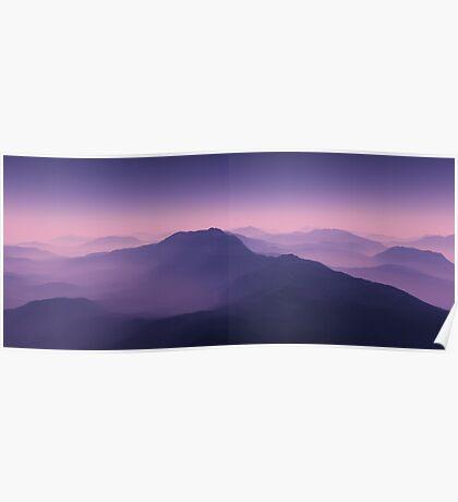 Misty Peaks Poster