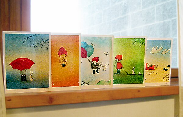 Knit Cap Note Cards by naokosstoop