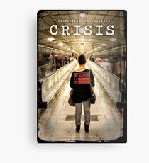 CRISIS Teaser Poster (Versión Metro) Lienzo metálico