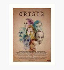 Cartel oficial de CRISIS Lámina artística