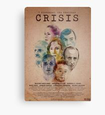 Cartel oficial de CRISIS Lienzo metálico