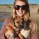 20. Bree & her Staffy Puppy Indie by Cathie Brooker