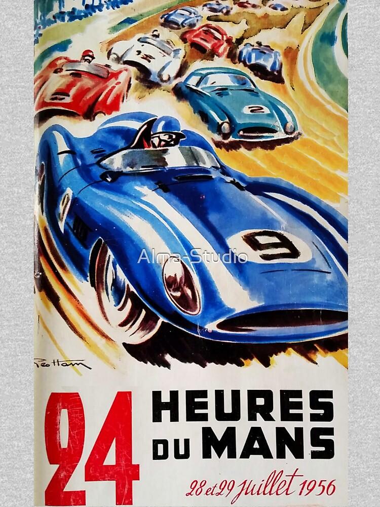 Le Mans Poster, Le Mans T-Shirt, 1956, Vintage Poster, Le Mans Aufkleber von Alma-Studio