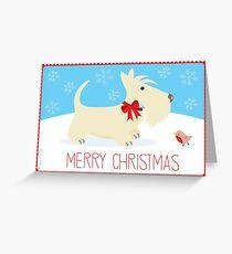 Christmas Wheaten Copyright © BonniePortraits on Redbubble.com Greeting Card