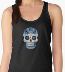 Sugar Skull with Roses and Flag of Argentina Women's Tank Top
