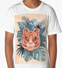 Tiger Mandala In The Jungle Watercolor  Long T-Shirt