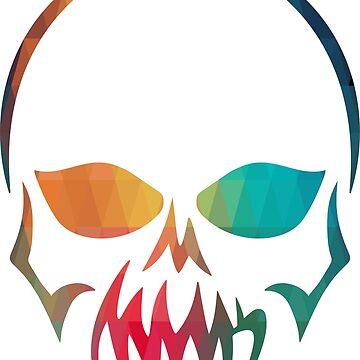 Abstract skull rainbow design by AdiDsgn