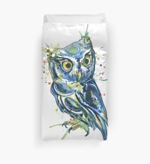 Blue Owl Duvet Cover