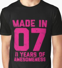 11th Birthday Gift Kids Age 11 Year Old Girl Girls Graphic T Shirt