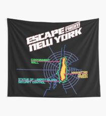 ESCAPE FROM NEW YORK - CITY MAP Wall Tapestry