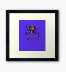 THE DASTARDLY SPIDER-FIEND Framed Print
