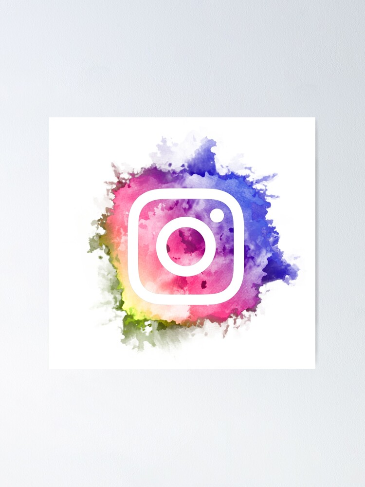 Instagram Logo Water Color Poster By Ameldasemporium Redbubble