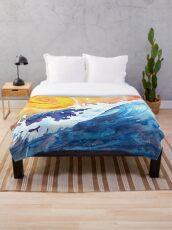 Ocean Wave Throw Blanket
