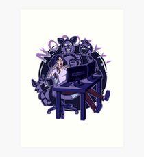 iamfallfromgrace - NOOYYY - Purple Art Print