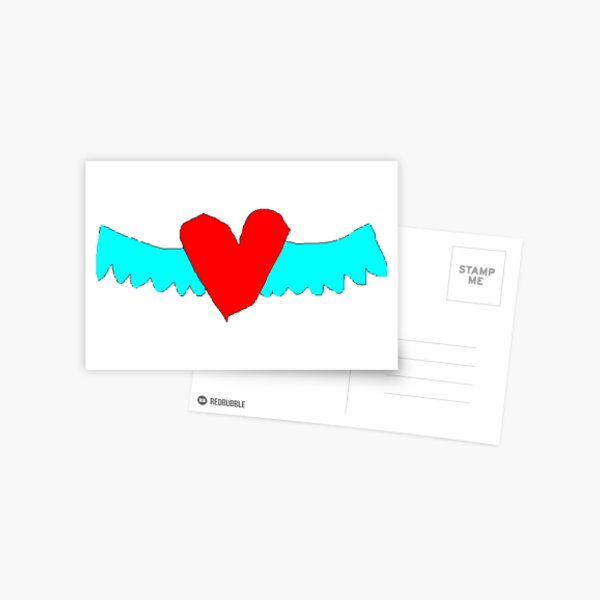 Heart with wings Postcard