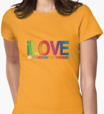 i LOVE ALL Womens Fitted T-Shirt