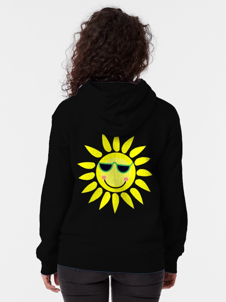 Alternate view of You are my sunshine my only sunshine Zipped Hoodie